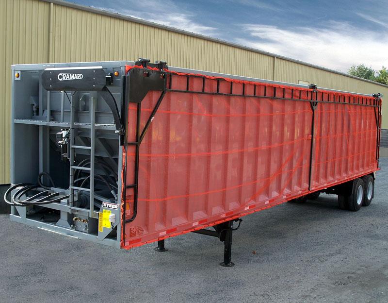 Side Roll Truck Trailer Truck Tarp systems by Cramaro Tarps