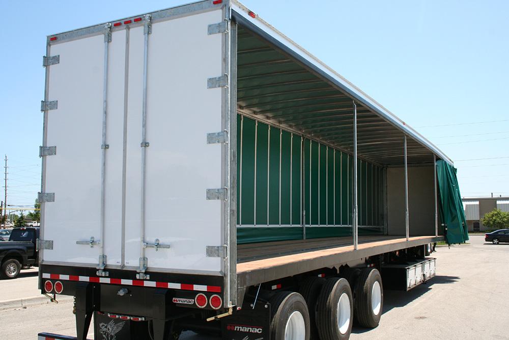 Curtain Sider Trailer Truck Tarp systems by Cramaro Tarps