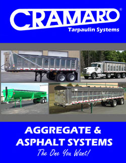Cramaro Tarps Aggregate & Asphault Truck Tarp Systems Brochure Cover