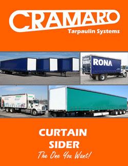 Cramaro Tarps Curtain Sider Flatbed Truck & Trailer Tarp System Brochure Cover