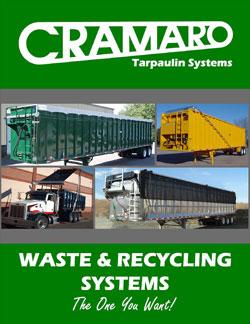 Cramaro Tarps Waste & Receycling tarp systems brochure cover